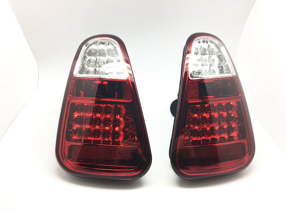 Black Smoke Fully Led Tail Lights Rear Lamps Fits 01 04
