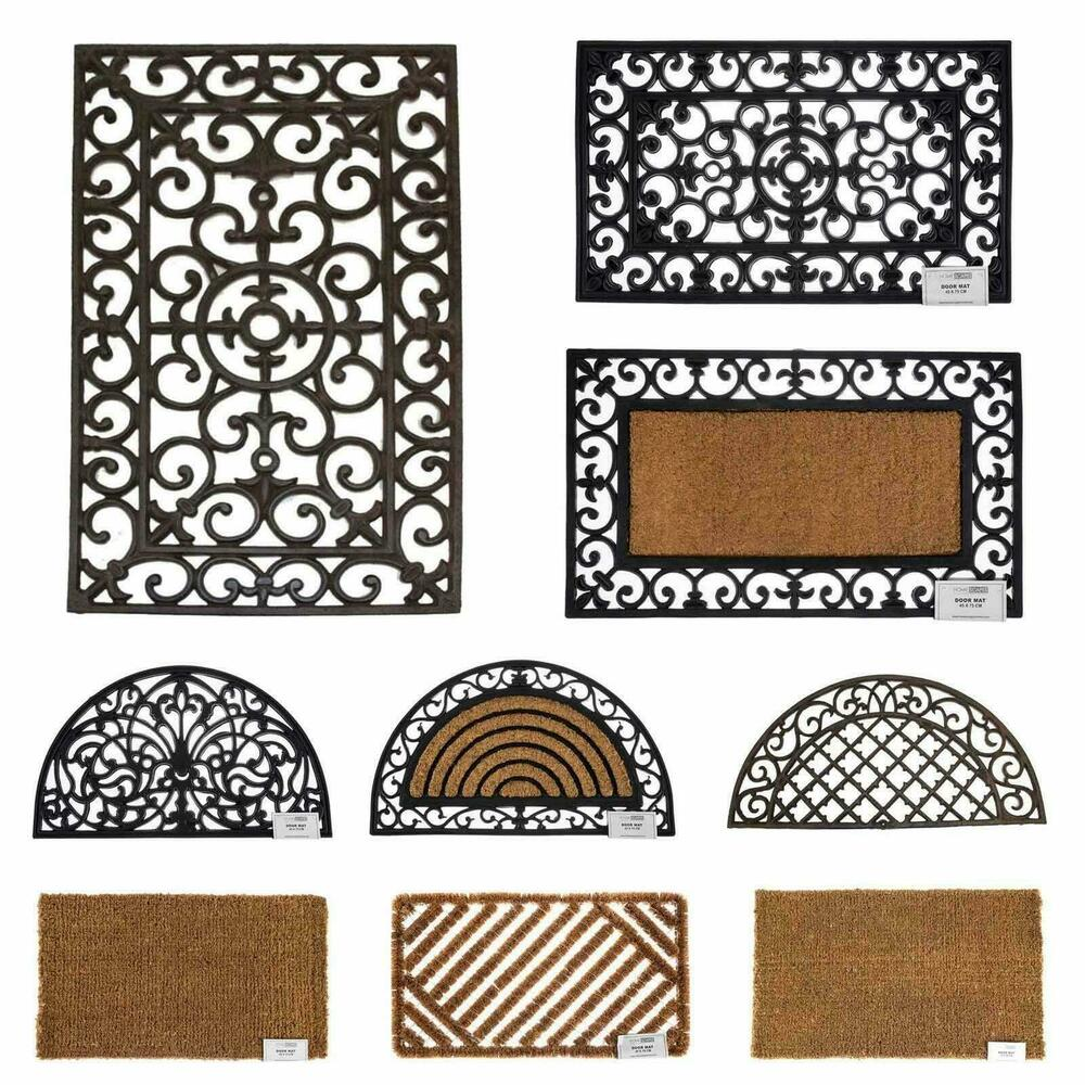 coir rubber door mat indoor outdoor use large wrought iron heavy duty
