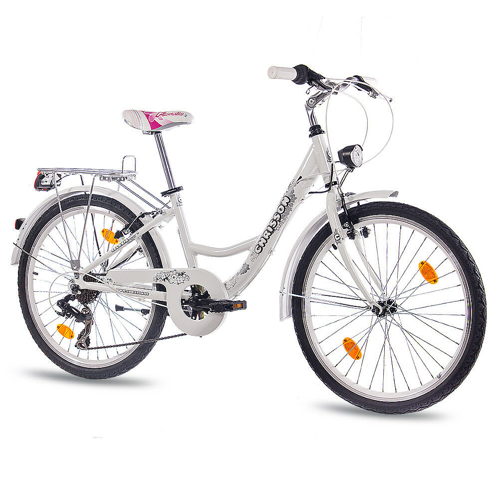 24 zoll alu cityrad jugendrad m dchenfahrrad chrisson relaxia mit 7g weiss ebay. Black Bedroom Furniture Sets. Home Design Ideas