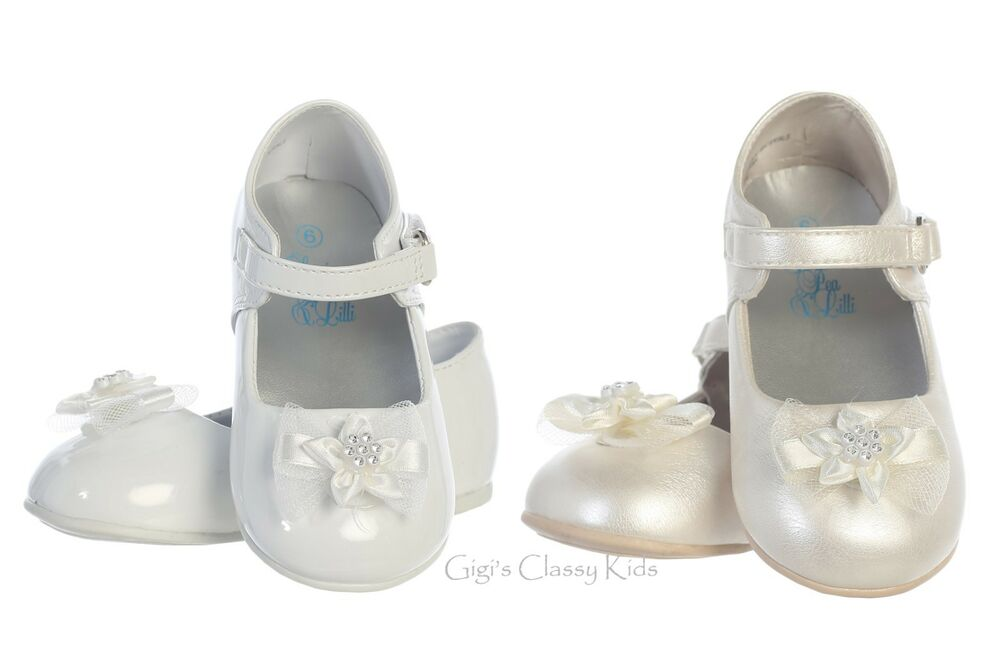 White Baptism Baby Shoes