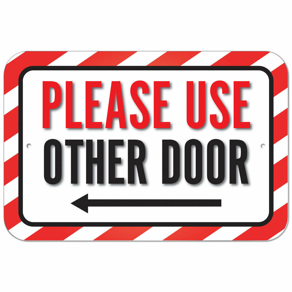 graphic relating to Please Use Other Door Signs Printable titled The other doorway / sneakers