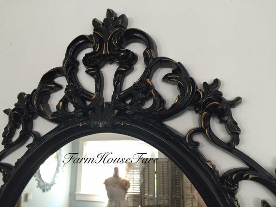 black framed bathroom mirror vanity mirror ornate large 13867