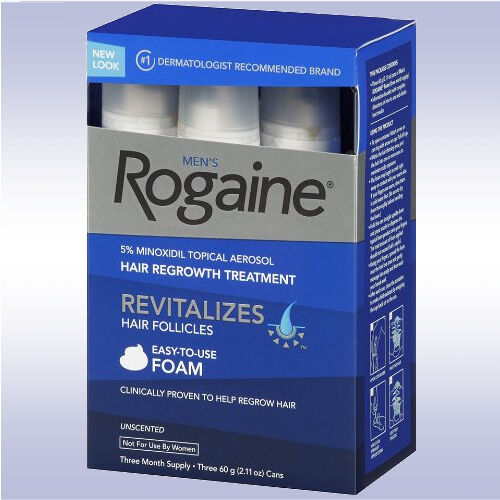 ROGAINE MEN'S FOAM (3 MONTH SUPPLY) 5% minoxidil topical 3 6 9 for men regaine 312547781305 | eBay