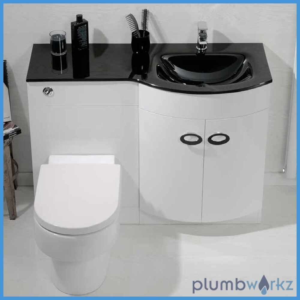 D Shape Bathroom Vanity Unit Basin Sink Bathroom WC Unit