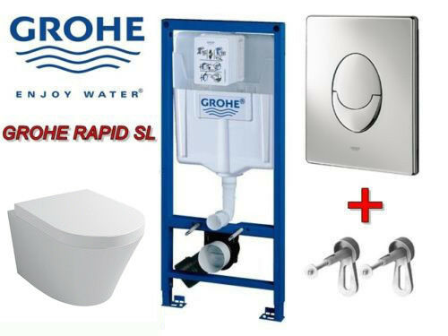 vorwandelement grohe rapid komplettset design wand wc best clean beschichtung ebay. Black Bedroom Furniture Sets. Home Design Ideas