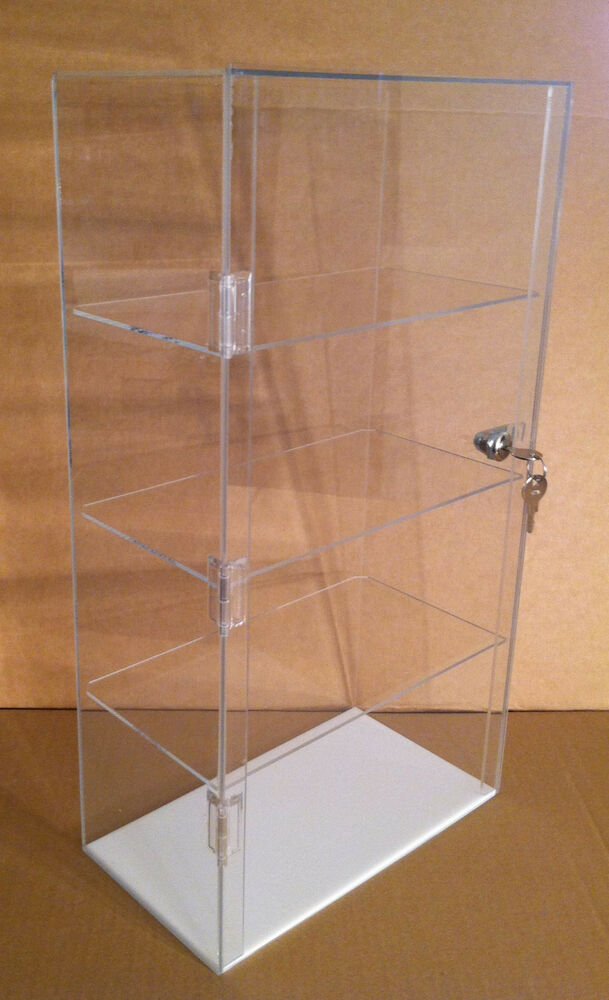Details About Acrylic Countertop Display Case 12 X 7 22 5 Locking Showcase