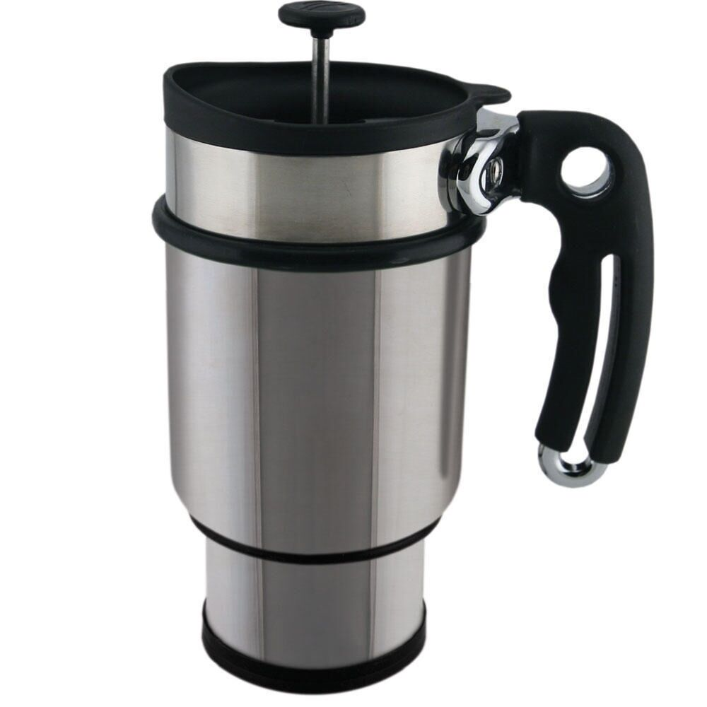 planetary design travel mug coffee double shot french press stainless steel ebay. Black Bedroom Furniture Sets. Home Design Ideas