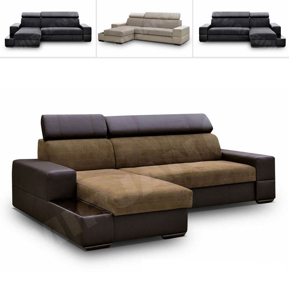 ecksofa lacosta couchgarnitur sofagarnitur sofa eckcouch mit schlaffunktion ebay. Black Bedroom Furniture Sets. Home Design Ideas