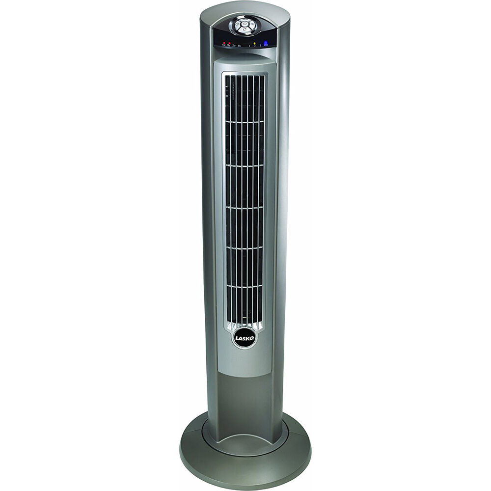 White Stand Up Fans : Lasko wind curve inch speed tower fan remote control