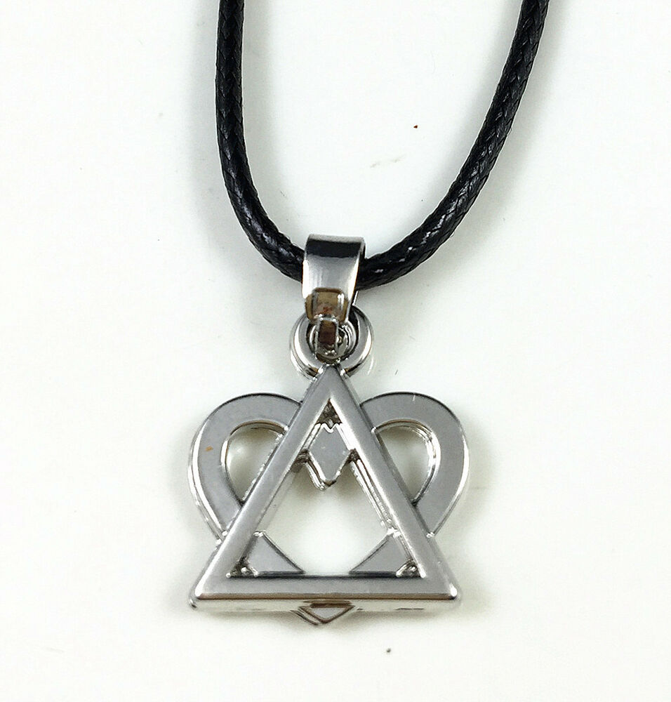 antique silver plated adoption symbol triangle small