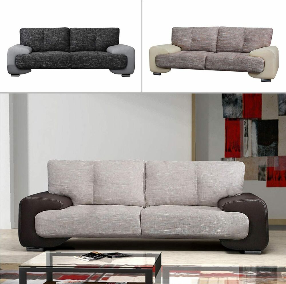 sofa carmen iii gro e farbauswahl couch sofagarnitur polstergarnitur modern neu ebay. Black Bedroom Furniture Sets. Home Design Ideas