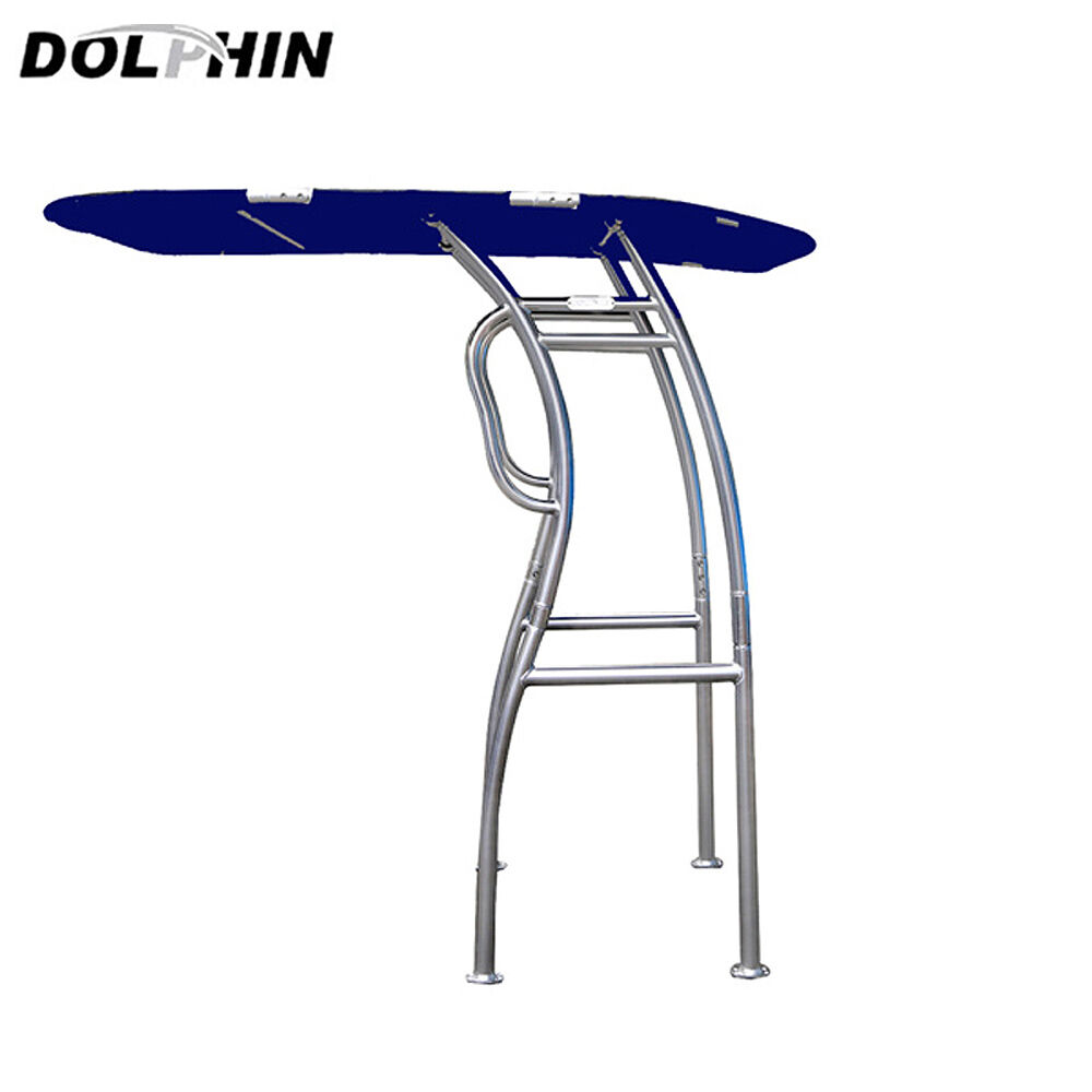 dolphin pro2 t top center console boat t top heavy duty foldable t top navy blue ebay. Black Bedroom Furniture Sets. Home Design Ideas