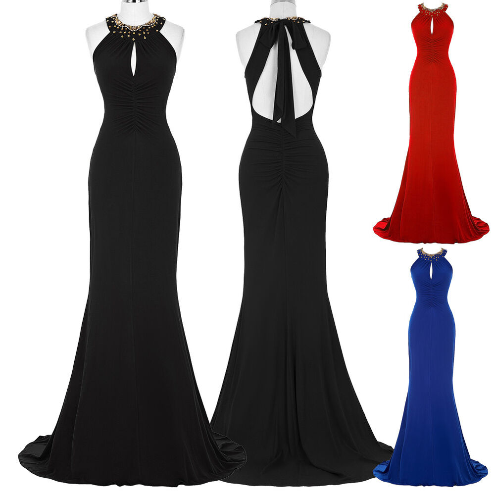 Long prom formal masquerade dress sexy mermaid bridesmaid for Evening gown as wedding dress