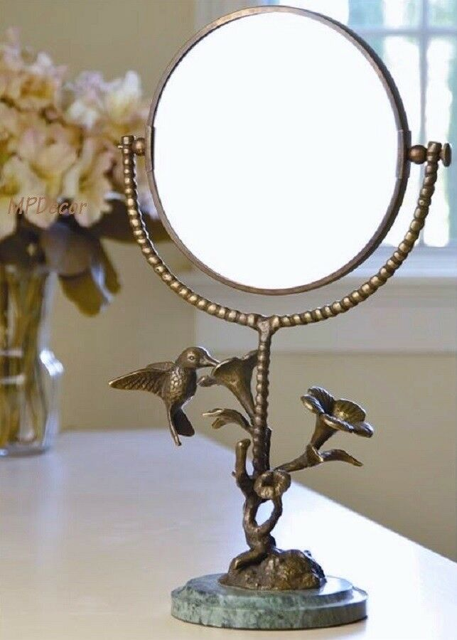 French Country Vanity Table Mirror Hummingbird Amp Flower