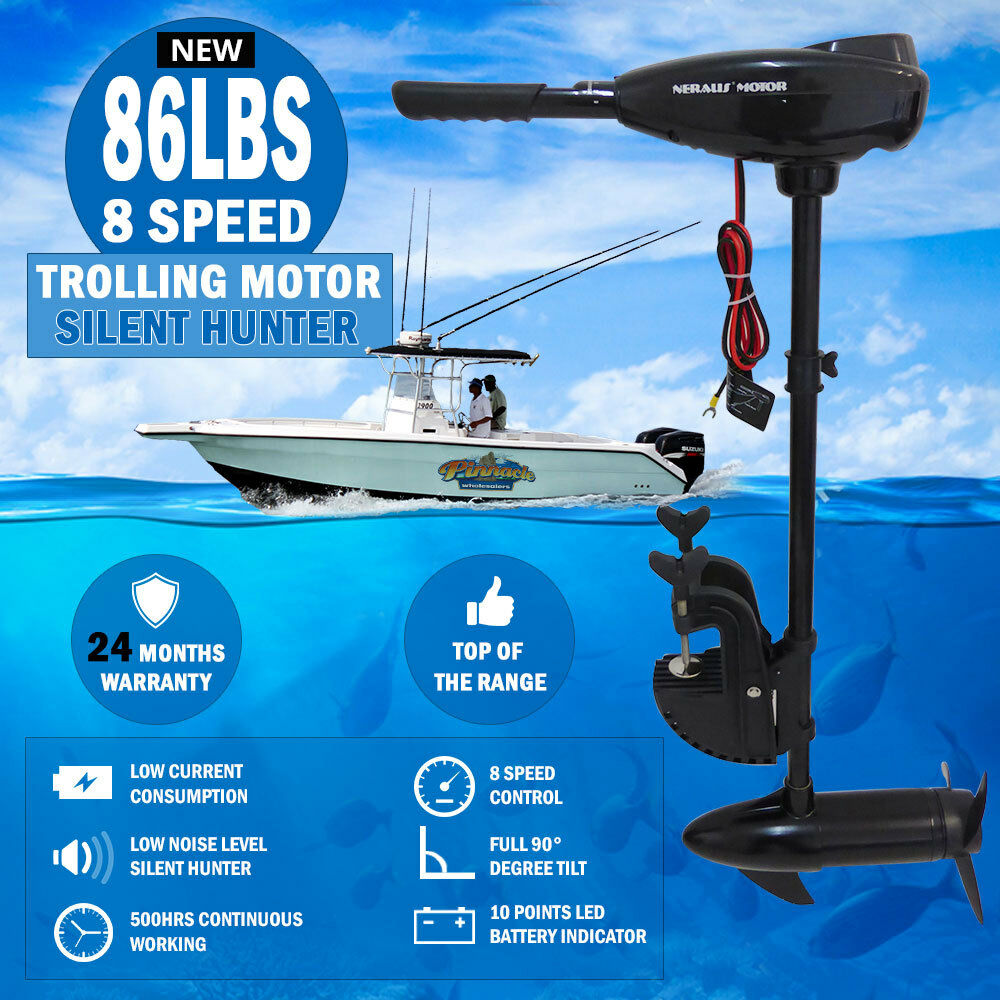 New 86lbs 8 speed trolling motor electric inflatable boat for Ebay boat motors outboard