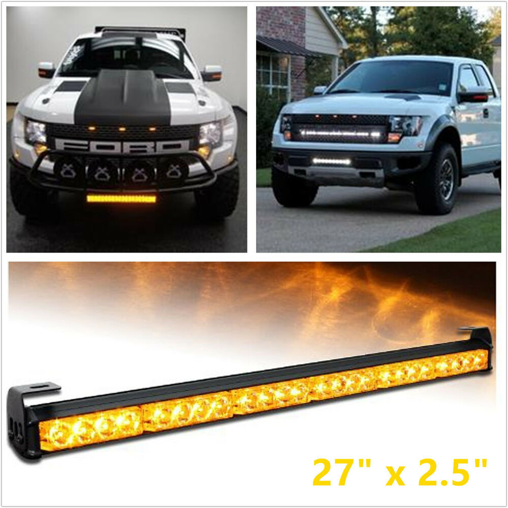 car truck traffic advisor strobe warning light light bar amber ebay. Black Bedroom Furniture Sets. Home Design Ideas