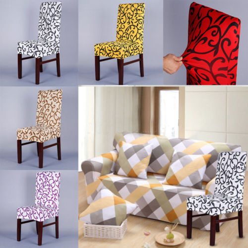 Stretch chair cover short removable dining room stool slipcovers