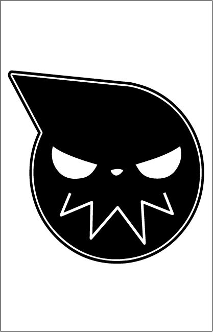 Soul Eater Symbol Outdoor Vinyl Sticker 7x6 Inch Black Window Decal