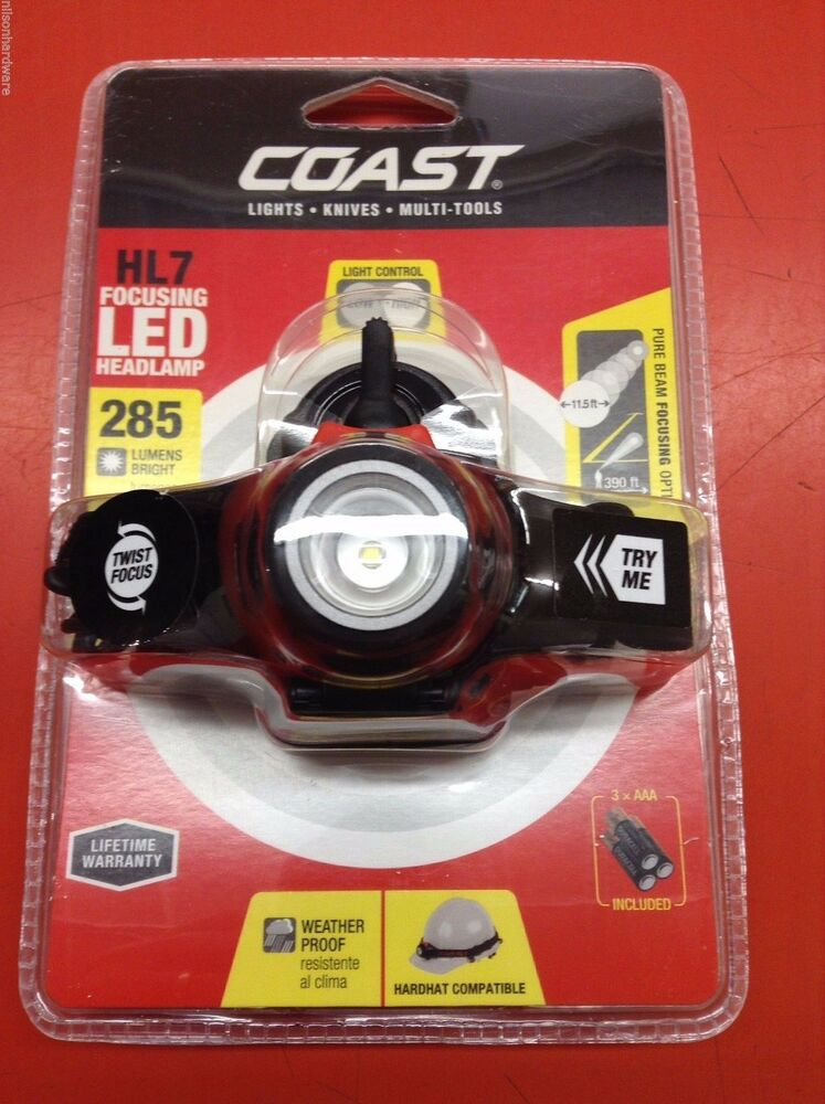 coast hl7 led focusing dimmable headlamp hard hat clip Speaker System Wiring Diagrams