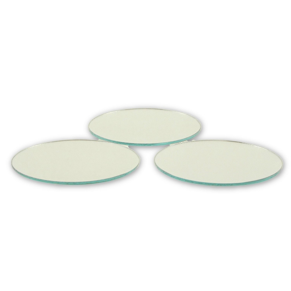 2 5 inch glass craft small round mirrors 24 pieces glass for Small round craft mirrors