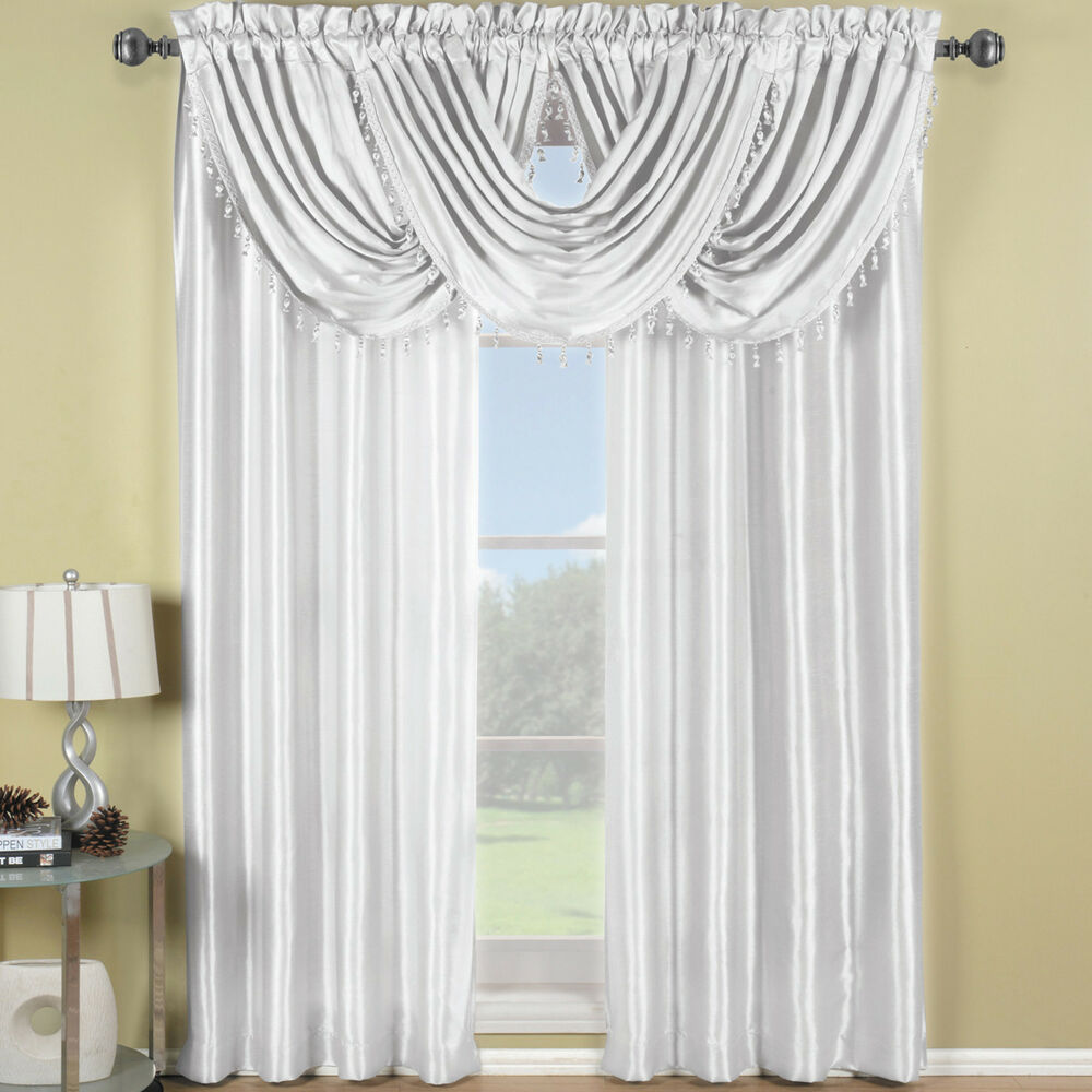 Soho rod faux silk waterfall window treatment includes 2 for What is a window treatment