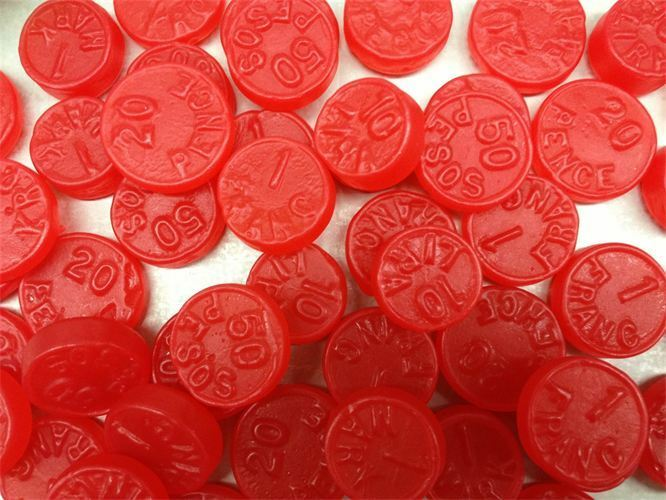 red candy coins