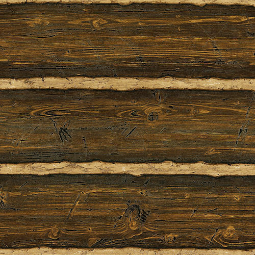Log Wallpaper With The Texture Of Logs ~ Brown embossed raised texture logs wallpaper double roll