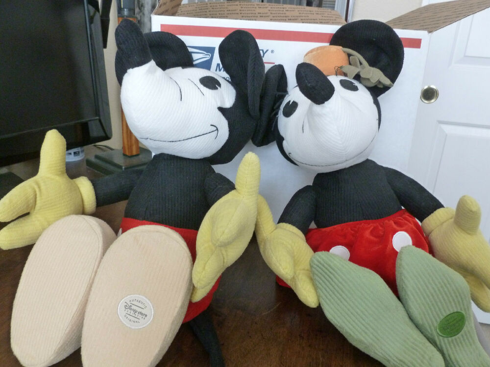 Retro mickey minnie mouse plush dolls disney store exclusive new old stock ebay - Disney store mickey mouse ...