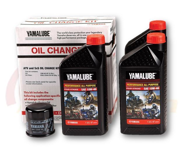 Yamaha Bruin 350 >> Yamalube 10W-40 Genuine Complete Oil Change Kit GRIZZLY ...