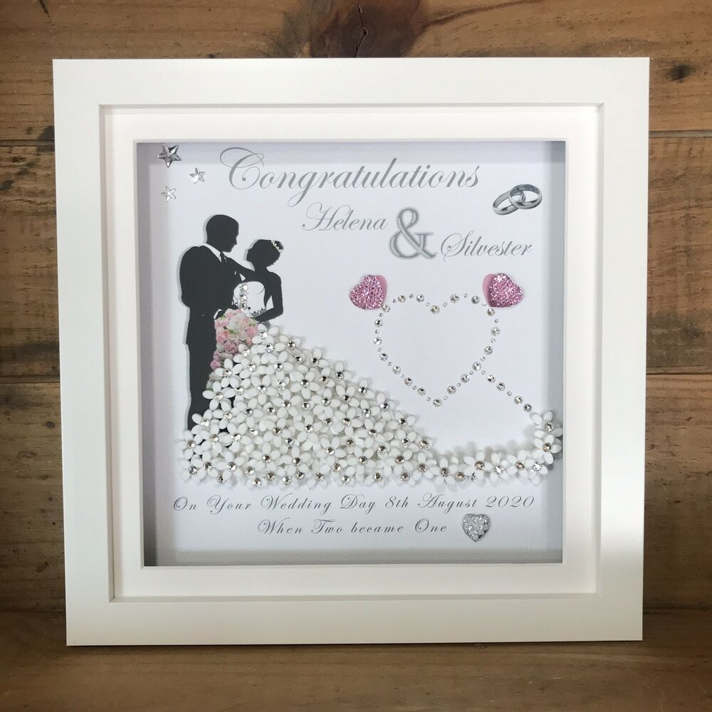PERSONALISED DEEP BOX FRAME WEDDING ANNIVERSARY MR MRS GIFT PRINT ...