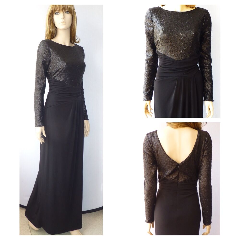 Bnwt Phase Eight Black Sissy Sequins Evening Party Dress