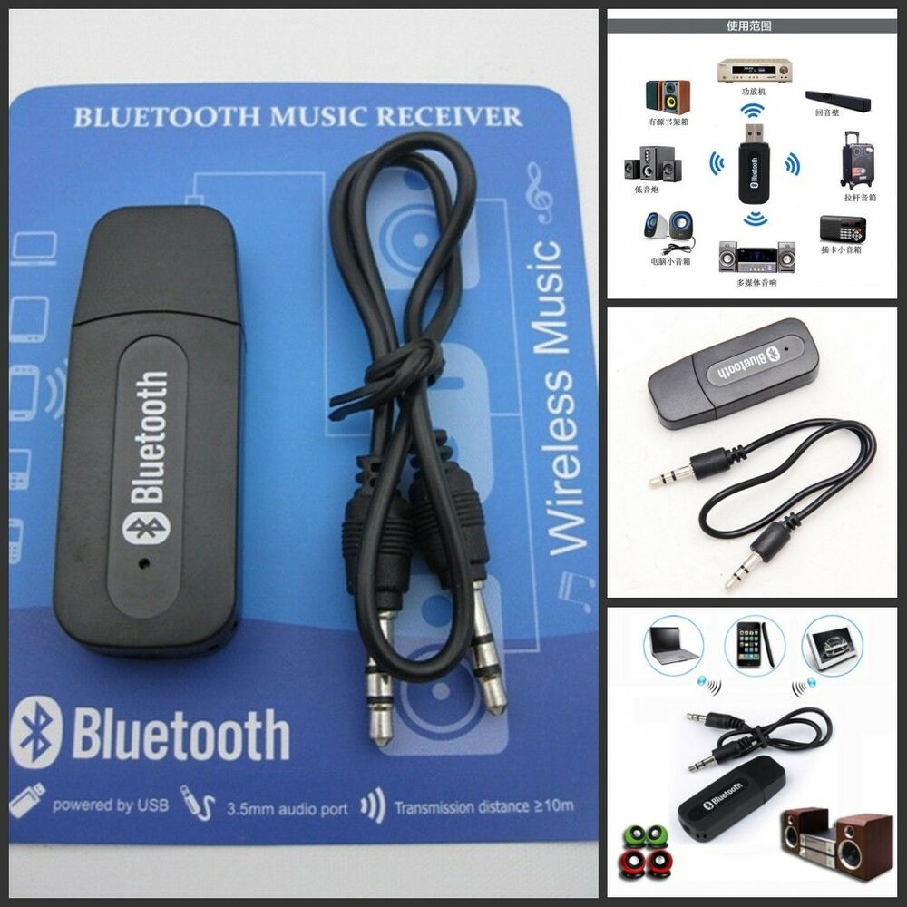3.5mm USB Wireless Bluetooth Music Audio Stereo Receiver Adapter Dongle AMP 1 PC | eBay