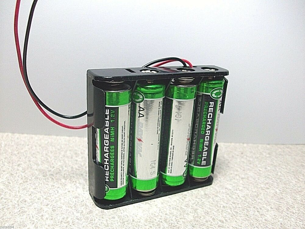 plastic battery case 6 0 volt dc battery holder 4xaa snap 150mm lead new b11 ebay. Black Bedroom Furniture Sets. Home Design Ideas