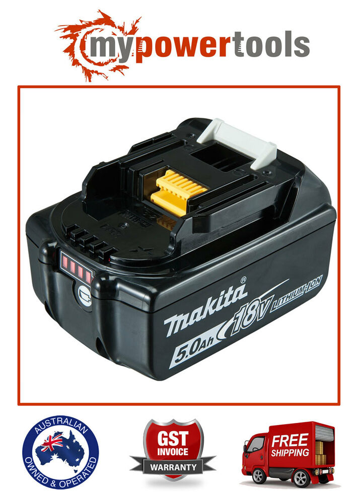 Makita Bl1850b 5 0ah 18v Lxt Li Ion Battery With Battery Indicator B New Bl1850 Ebay