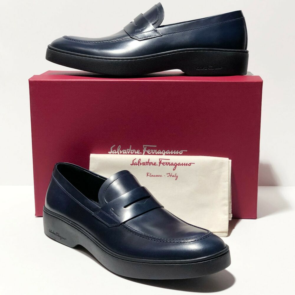 nib salvatore ferragamo fantino cap toe leather oxford
