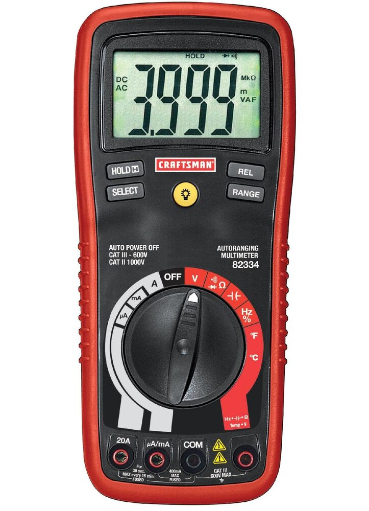 Craftsman Digital Multimeter : Craftsman digital multimeter with auto ranging