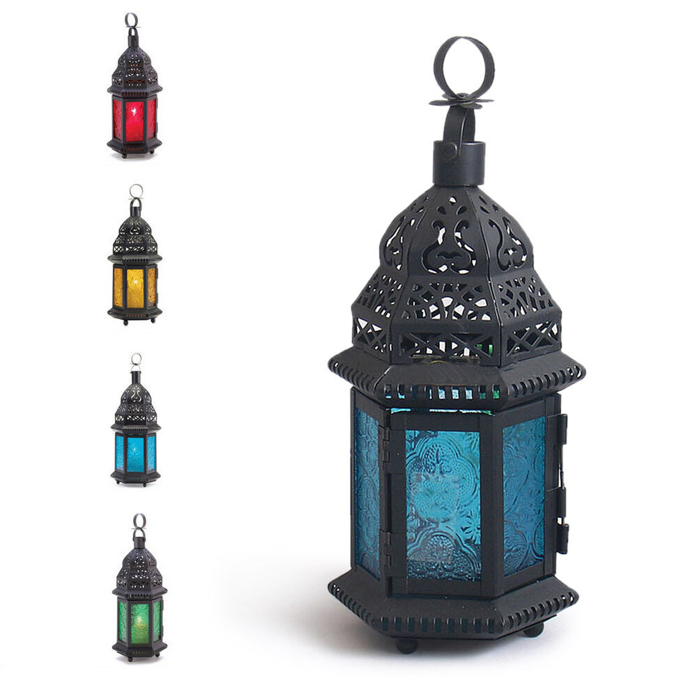 hanging candle lanterns cool glass metal moroccan delight garden candle holder 10198