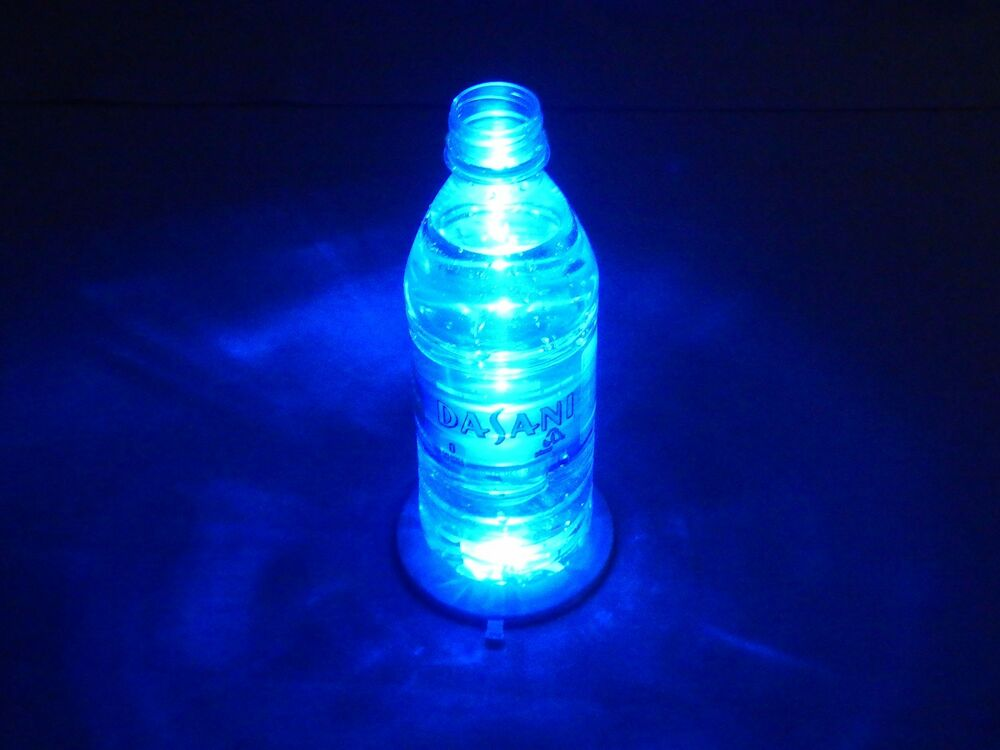 Set Of 8 Light Up Coasters W Blue Red Led Illuminates
