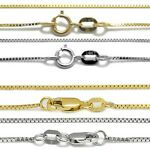 Guaranteed 10K or 14K Gold Box Chain Necklace Two Sizes - All Lengths