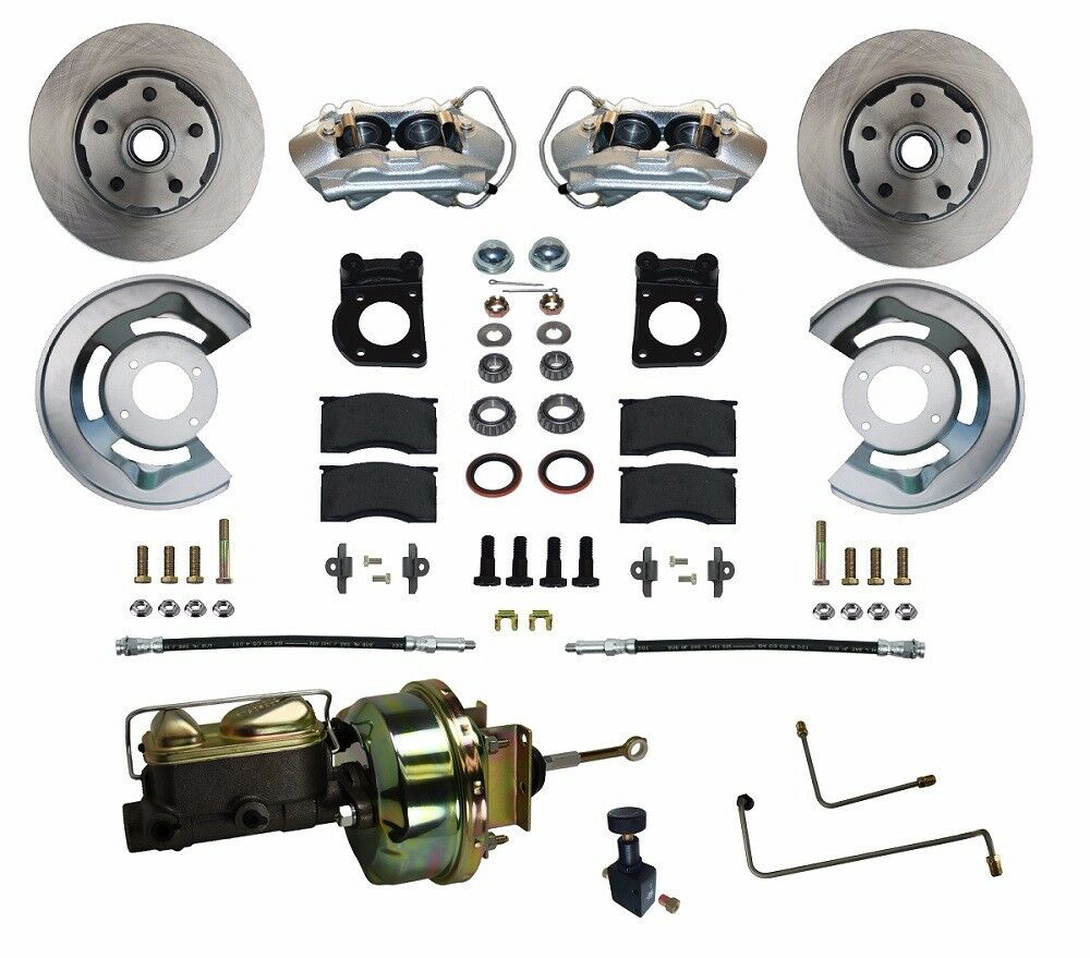 1964 65 66 ford mustang disc brake conversion kit power front ebay. Black Bedroom Furniture Sets. Home Design Ideas