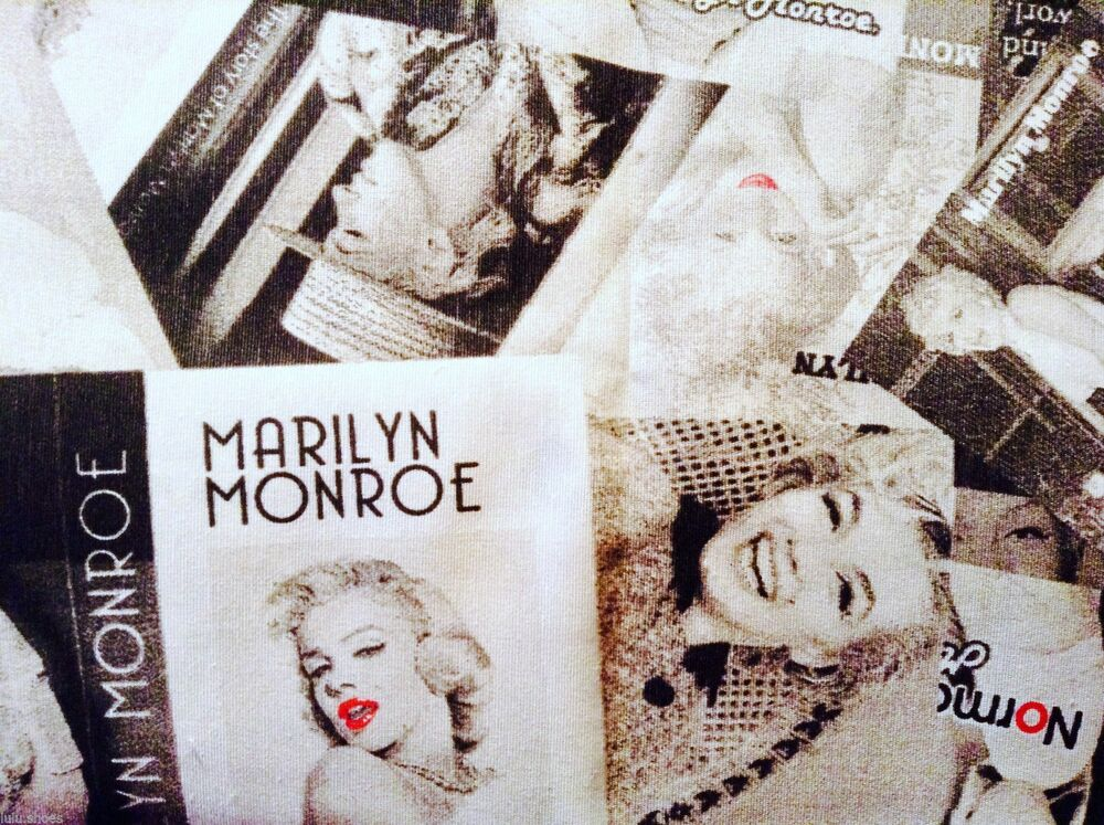 marilyn monroe baumwolle stoff vorhang polster material 280cm extra breit ebay. Black Bedroom Furniture Sets. Home Design Ideas
