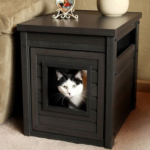 Litter Box End Table Hidden Cat Furniture Large Kitty