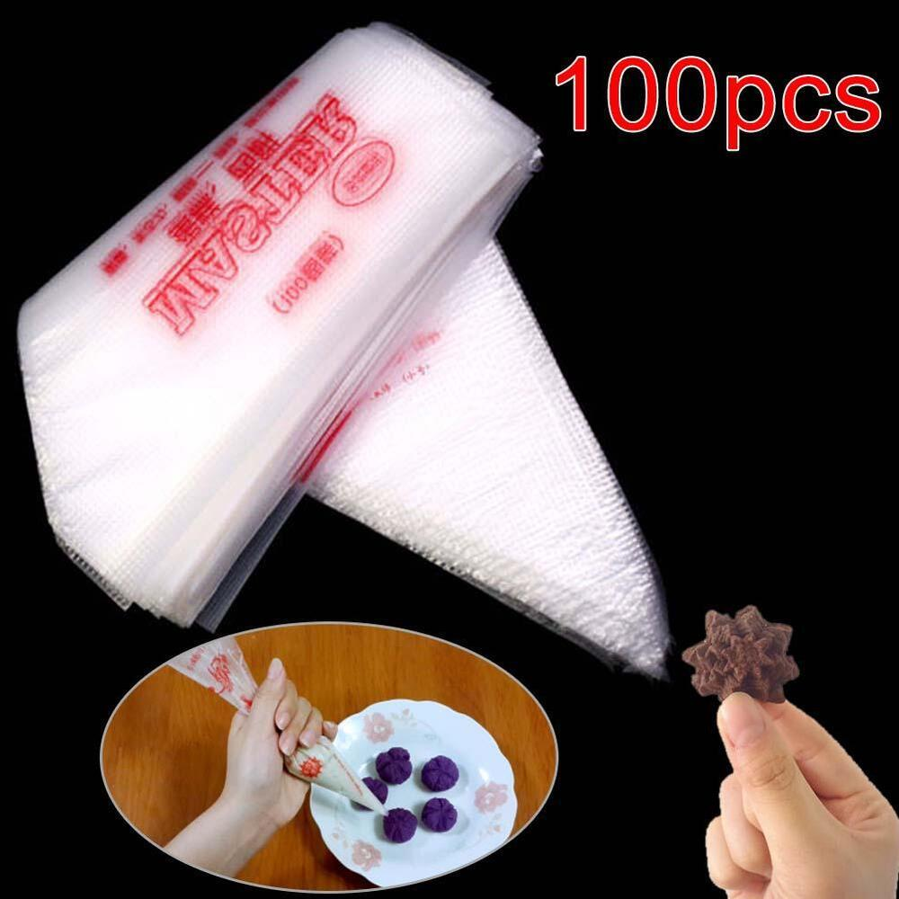 100xPlastic Disposable Icing Piping Frosting Pastry Bag ...
