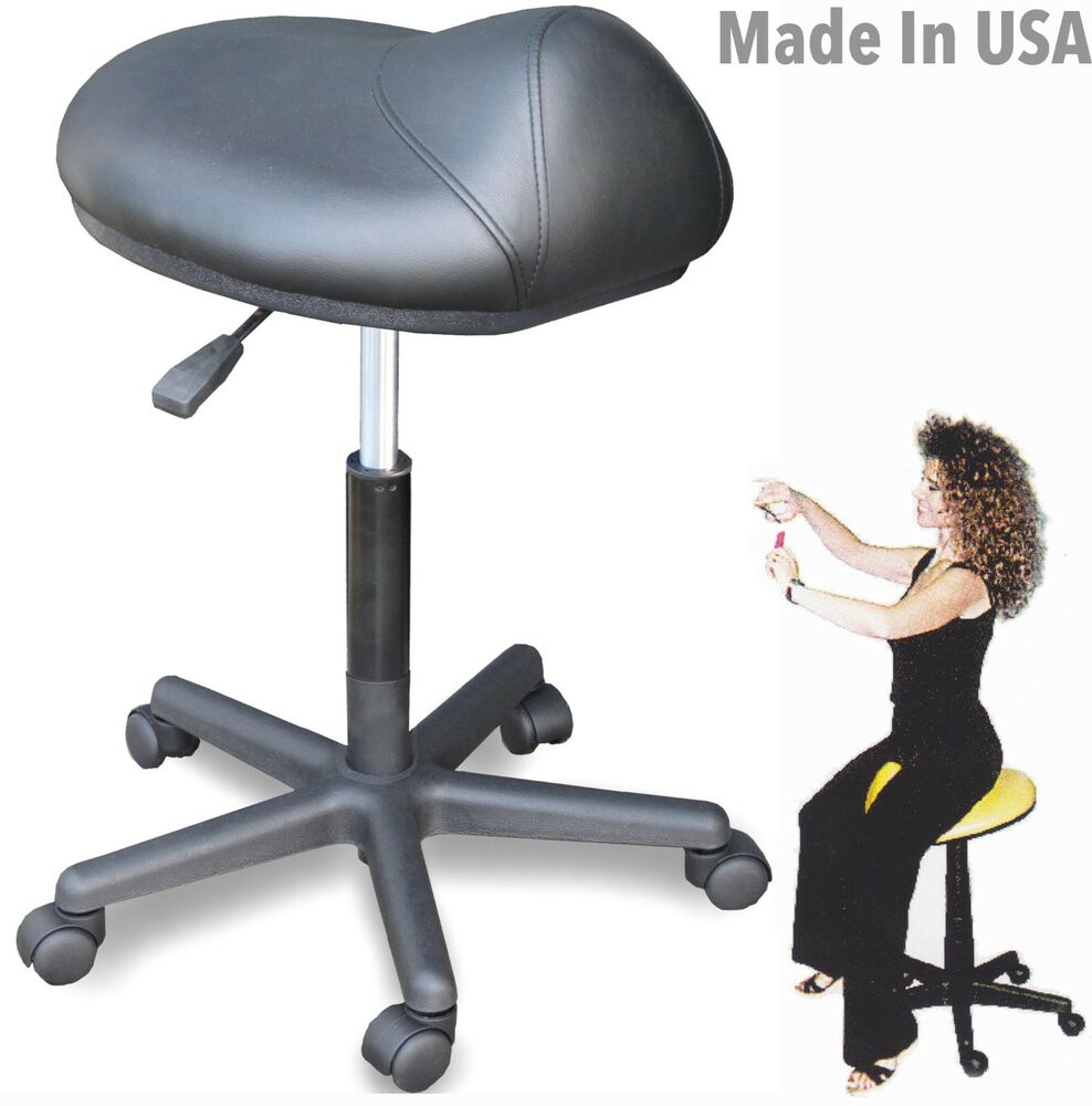 Salon Ergonomic Cutting Stool Saddle Chair 915 Made In