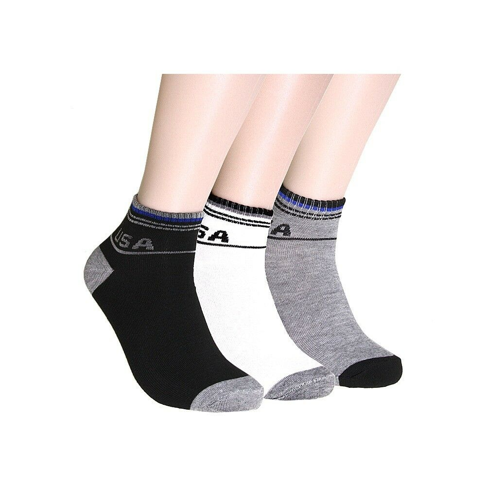 New 6 Pairs Mens Ankle Socks Cotton Sports Casual Athletic