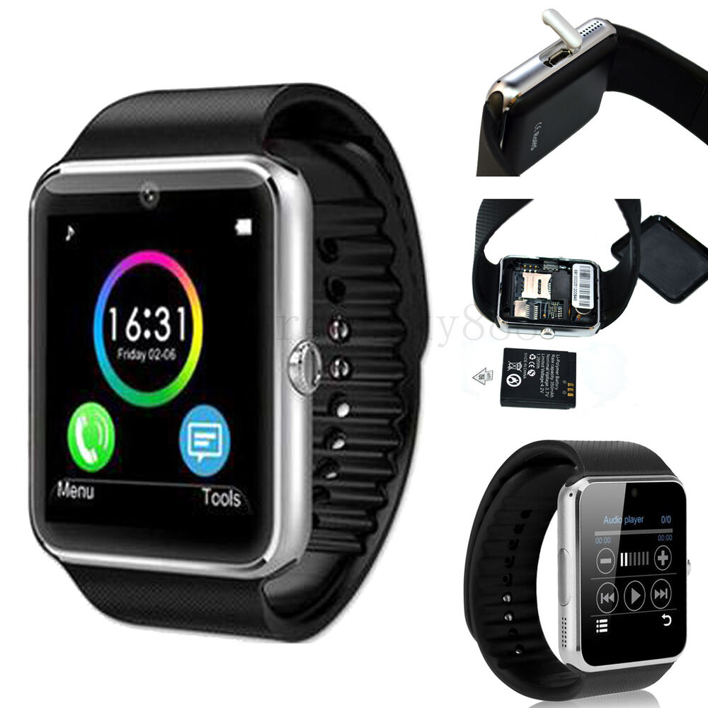 wireless bluetooth smart wrist watch for samsung galaxy s7 edge s6 plus s5 a3 a5 ebay. Black Bedroom Furniture Sets. Home Design Ideas