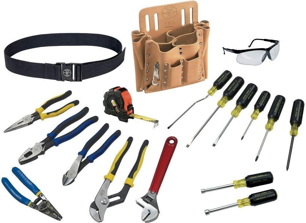 klein tools 80118 journeyman electrician 18 piece tool set ebay. Black Bedroom Furniture Sets. Home Design Ideas