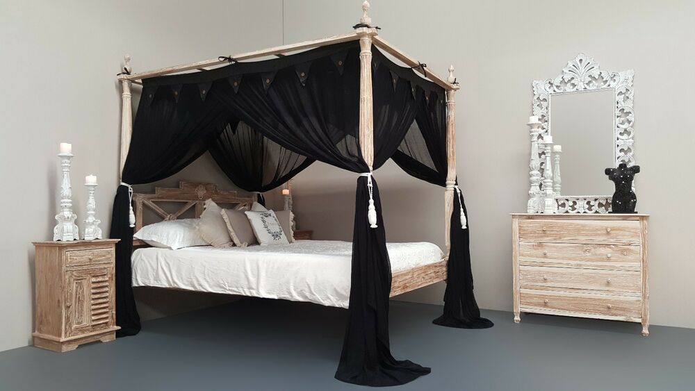 Four Poster Bed Canopy Mosquito Net 185cm X 205cm Standard