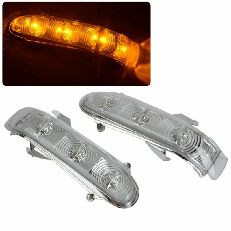Pair led side mirror turn signal light for 1999 2003 benz for Mercedes benz side mirror turn signal