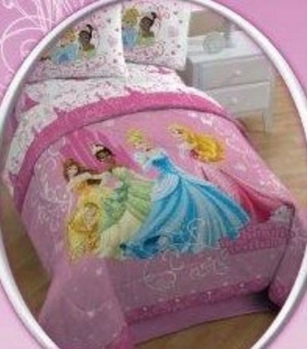 disney princess quilt comforter full queen size bedding new ebay. Black Bedroom Furniture Sets. Home Design Ideas